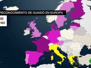 """VÍDEO REEMPLAZO - Oleada de reconocimientos en la UE a Juan Guaidó como presidente de Venezuela: """"Tiene la legitimidad para organizar elecciones"""""""