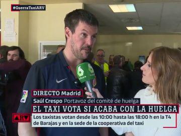 Saúl Crespo, portavoz del taxi