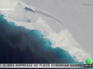 Aparece una grieta gigante en el iceberg más inestable de la Antártida