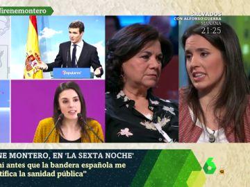 """Irene Montero habla sobre patriotismo: """"La bandera de España está siendo manoseada por los más corruptos"""""""