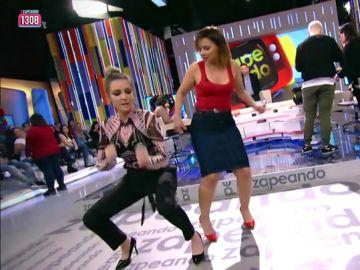 El baile de lunes de Anna Simon y Chenoa en Zapeando