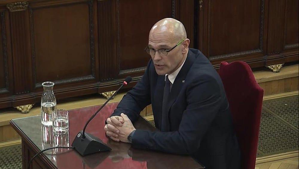 Raül Romeva declara en el Tribunal Supremo