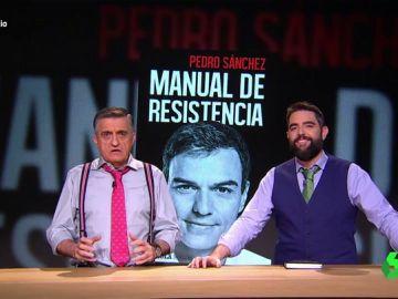 """Dani Mateo y Wyoming indagan en el 'Manual de Resistencia' de Sánchez: """"Sólo hay algo más cruel que los niños, los varones del PSOE"""""""