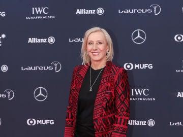 Martina Navratilova, en la gala de los premios Laureus 2018