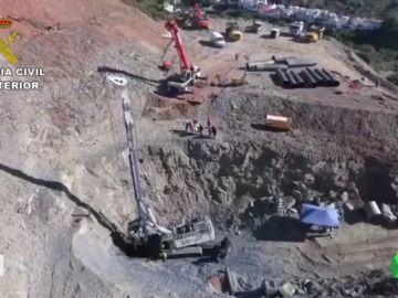 Las obras para acceder al pozo de Totalán