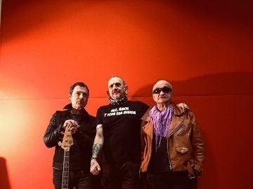 Los integrantes de La Polla Records: Evaristo Páramos, Sumé y Abel