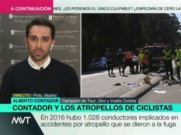 """Alberto Contador: """"Si nos concienciamos más, los atropellos de ciclistas se van a reducir enormemente"""""""