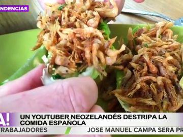 De la tortilla de patata a las croquetas: un youtuber neozelandés destripa la comida española desde Madrid
