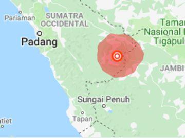 Zona afectada por el terremoto.