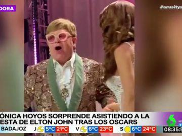 Mónica Hoyos sorprende asistiendo a la fiesta de Elthon John tras los Oscar