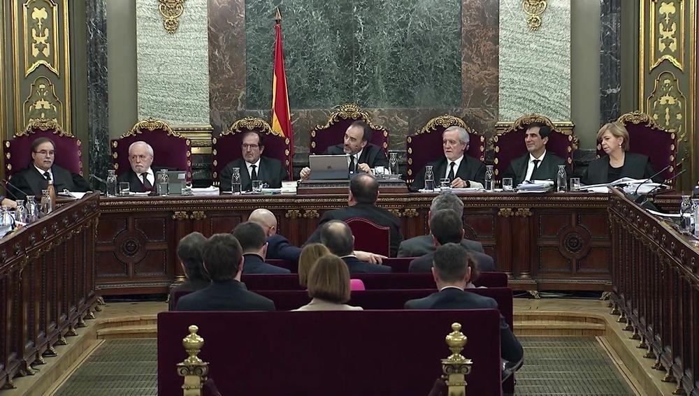 Los magistrados del juicio del 'procés'.