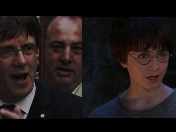 Carles Puigdemont y Harry Potter