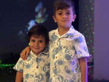 Mateo y Thiago Messi enamoran a los internautas con su disfraz de Harry Potter
