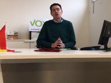 El presidente de Vox en Lleida, José Antonio Ortiz Cambray