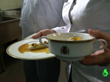 Menú elaborado por la chef María José San Román en las cocinas de La Moncloa