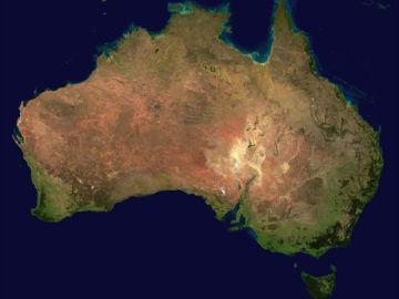 Vista satelital de Australia