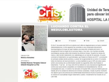 Imagen de la recaudación que están haciendo en 'Fundación Cris contra el cáncer' para poder hacer el ensayo clínico a Noel