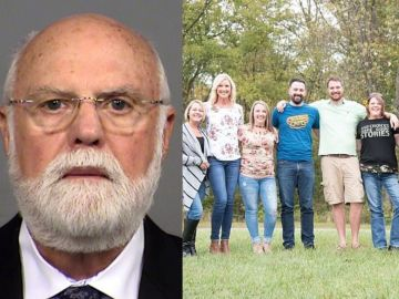 Donald Cline y algunos de sus hijos