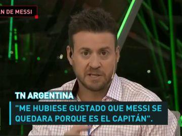 """Siguen las críticas a Messi por dejar la concentración Argentina: """"Me hubiese gustado que se quedara porque es el capitán"""""""