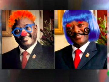 Garabatearon la foto en sus libros de texto, algo penado en Burundi