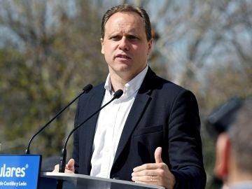 El economista Daniel Lacalle, cuarto en la lista del PP por Madrid al Congreso, en un acto en León
