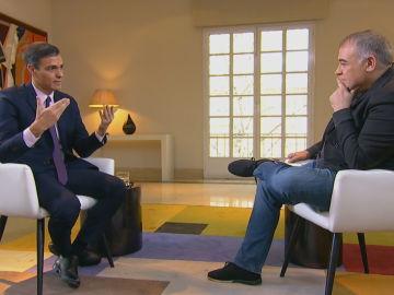 Entrevista a Pedro Sánchez en Al Rojo Vivo.