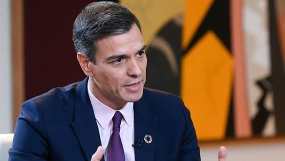 Pedro Sánchez, durante la entrevista en ARV