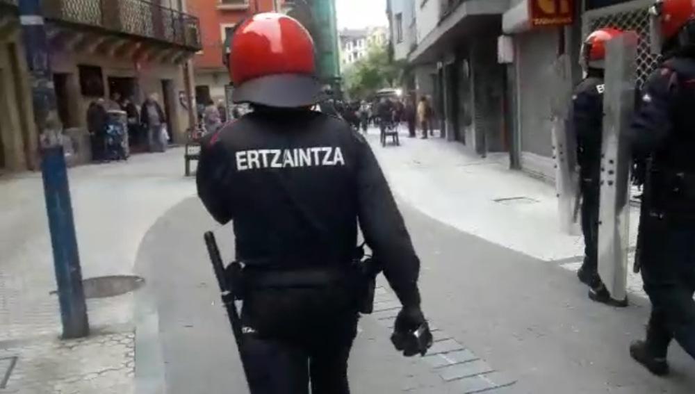 Un agente de la Ertzaintza.