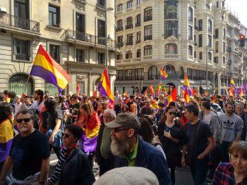 Manifestación a favor de la República en Madrid