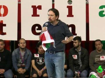 Pablo Iglesias en un acto de Podemos