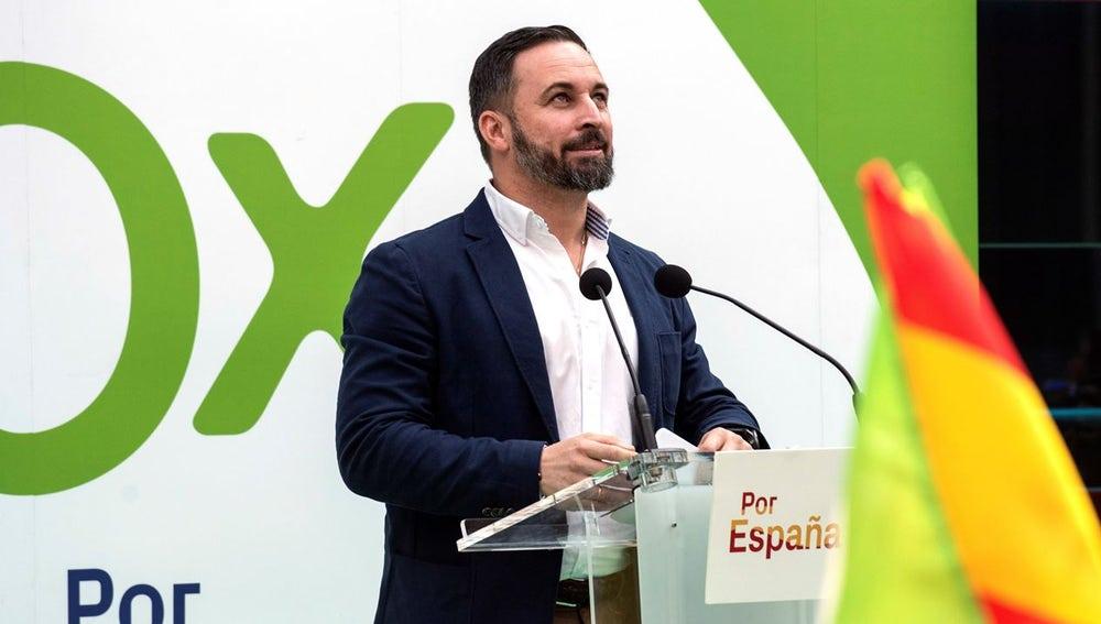 Santiago Abascal en un acto en Vitoria