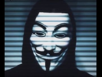 Captura de un vídeo de Anonymous.