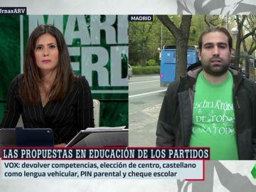 """Jorge Castaño (Marea Verde) analiza las propuestas de los partidos en educación: """"Ahora más de la mitad de financiación se va a la escuela concertada"""""""