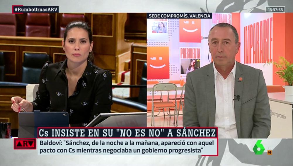 """Joan Baldoví (Compromís): """"Mi apuesta es un Gobierno con PSOE, PNV y Unidas Podemos"""""""