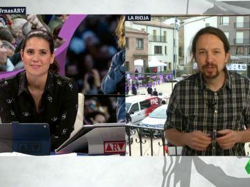 """Pablo Iglesias: """"Creo que algo está cambiando en España. Somos optimistas con los resultados de las elecciones"""""""