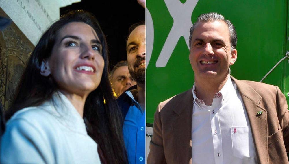 Rocío Monasterio y Javier Ortega Smith, miembros de Vox