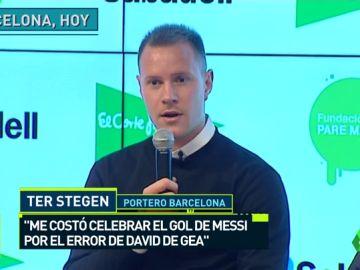 """Ter Stegen, sobre la cantada de De Gea ante Messi: """"La verdad es que me costó un poco celebrar ese gol, es un compañero que ocupa la misma posición que yo"""""""