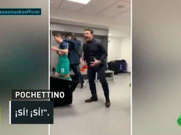 Pochettino imita a Simeone y a Cristiano: así fue su celebración tras el pase a semis del Tottenham