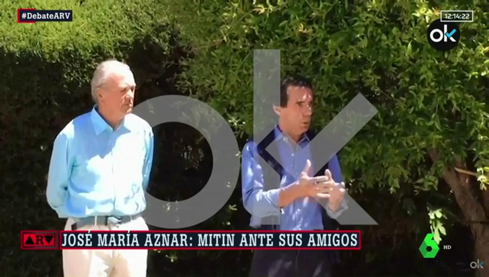Mitin de Aznar ante sus amigos