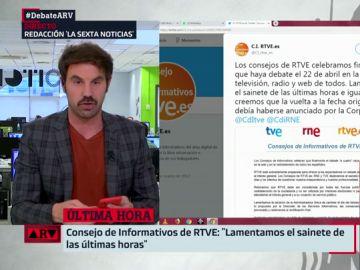 """El Consejo de Informativos de RTVE anuncia el cambio de fecha del debate al 22: """"Lamentamos el sainete"""""""