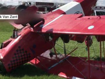 Accidente de una avioneta en Indianápolis