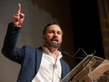 Santiago Abascal durante un acto en Granada