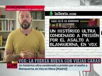 """Antonio Maestre, sobre el ultra histórico del neofascismo en Vox: """"Es una muestra del sustrato ideológico que tienen"""""""