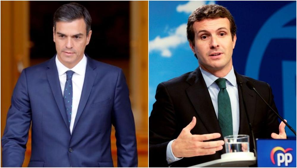 Pedro Sánchez y Pablo Casado en una imagen de archivo