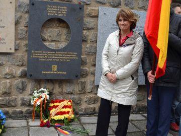 La ministra de Justicia, Dolores Delgado, participando en los actos de recuerdo a las más de 8.000 víctimas españolas del nazismo