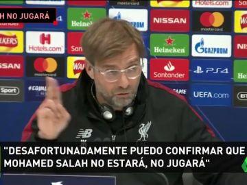 Salah no jugará contra el Barça