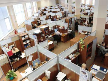 Imagen de archivo de los trabajadores de una empresa.