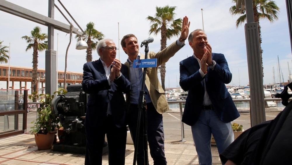 Pablo Casado en un acto en Melilla