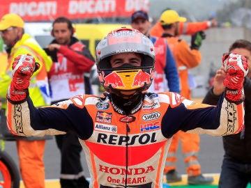 Marc Márquez celebra su victoria
