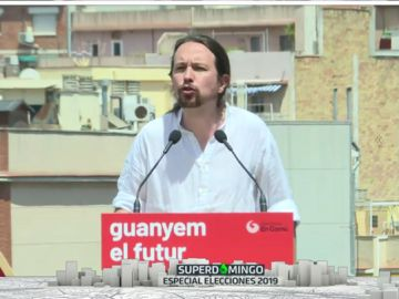 Pablo Iglesias en un acto en Barcelona